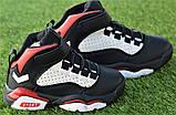 Высокие детские кроссовки Nike Air Jordan Black найк черный р32-37, фото 2