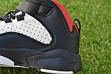 Высокие детские кроссовки Nike Air Jordan Black найк черный р32-37, фото 7