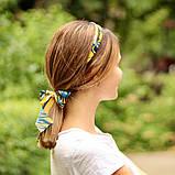 Резинка с платком для волос заколка для волосся твилли твіллі бантик, фото 2