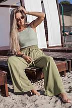 """Свободные льняные женские брюки """"BANGA"""" с карманами (5 цветов), фото 3"""