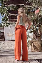 """Свободные льняные женские брюки """"BANGA"""" с карманами (5 цветов), фото 2"""