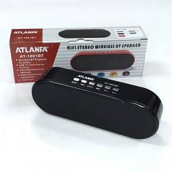 Портативный радиоприемник колонка ATLANFA 1801BT, карманный приемник колонка с  USB, SD, Bluetooth, сабвуфер