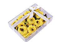 Набор желтых цветочков в коробочке