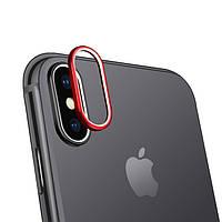Защитная накладка для камеры Grand iPhone XS Max Red, КОД: 727472
