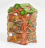 Деревянный конструктор Woody - Дом-дерево для Лешиков