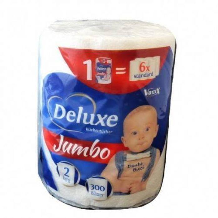 Полотенца бумажные Voxxx Deluxe Jumbo двухслойный, 60 м (300 отрывов)