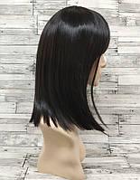 Парик женский каре черный с прямой челкой аниме косплей cosplay