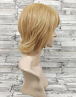 Парик женский женский блонд короткая стрижка с челкой из натуральных волос
