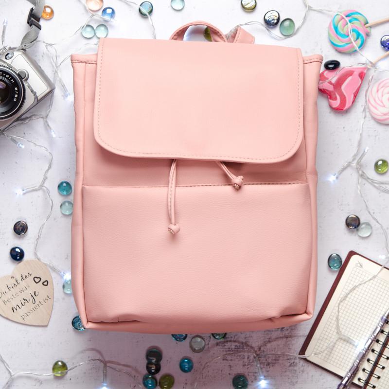 Женский рюкзак пудровый SamBag розовый разные размеры 22220006