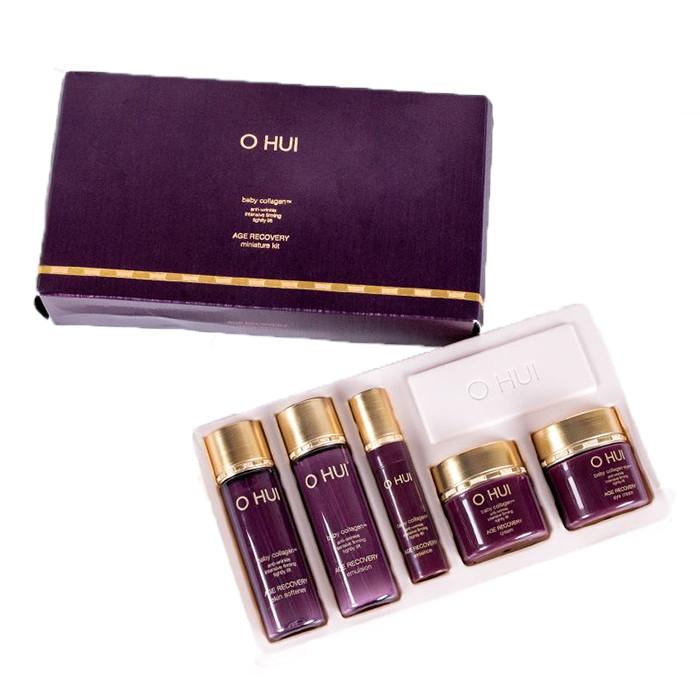 Подарочный набор миниатюр антивозрастной косметики с коллагеном OHUI Age Recovery Special Gift Set (5 Items)