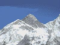 Гора Еверест Схема повної вишивки бісером