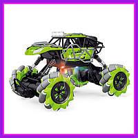 Детская трюковая машинка вездеход Fever Buggy 4WD 4x4 На пульте радиоуправления Green
