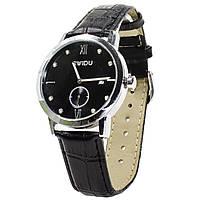 Часы SWIDU SWI-018 Black с двумя циферблатами наручные мужские инкрустация камнями 3088-8771, КОД: 1397970