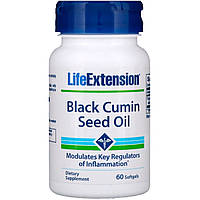 Масло семян черного тмина, Black Cumin Seed Oil, Life Extension, 60 капсул