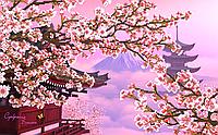 Сакура в горах Схема вишивки бісером