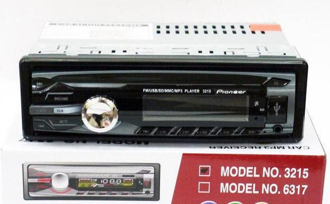1DIN MP3-3215 RGB Автомобильная магнитола RGB панель + пульт управления