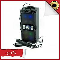 Аккумуляторная мобильная акустическая система NNS-1503BT, портативная акустика с микрофоном для караоке