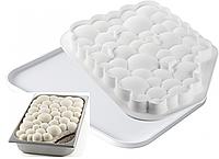"""Набор для мороженого """"KIT BUBBLE GEL"""" форма (33x23cм)+TAPIS GEL 02, Silikomart Италия"""