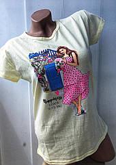 Молодежная женская футболка (42-44-46) Турция