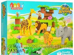 """Конструктор """"Зоопарк"""", фигурки, животные, 83 дет., JDLT 5286"""