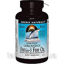 Омега 3 из Рыбьего Жира, Арктический, Source Naturals, Omega-3 Fish Oil, 850 мг, 60 капсул