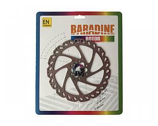 Ротор / тормозой диск Baradine под 6-ть болтов, 160мм. серебро