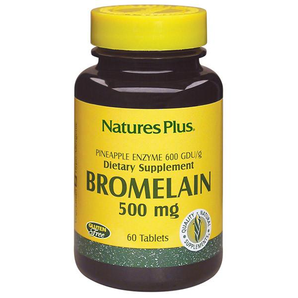 Бромелайн 500 мг, Natures Plus, 60 таблеток