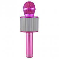 Беспроводной караоке микрофон Wster WS 858 Розовый 115, КОД: 1079491