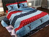 Семейное постельное белье-Луивитон голубой