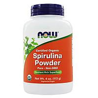 Органическая Спирулина, Порошок, Organic Spirulina, Now Foods, 113 гр