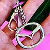 Брелок Мазда серебро - Мазда серебряный брелок, фото 4