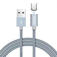 Кабель Hoco U40A Magnetic USB - USB Type-C Metal 1 м Gray MB492h, КОД: 1320615
