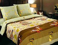 Двоспальний постільний комплект -Вальс оливка