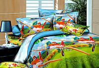 Детское полуторное постельное белье Тачки летачки
