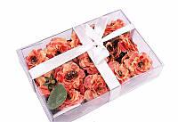 Набор красные цветочков в коробочке