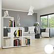 Удобный стеллаж для дома, лестница, книжный шкаф из ДСП 6 отделений, Дуб Сонома, фото 3