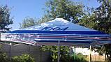 Зонт 4х4 торговый садовий пляжный барный тент  зонт 4х4 уличный тросовый квадратный, фото 3