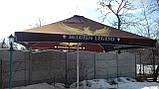 Зонт 4х4 торговый садовий пляжный барный тент  зонт 4х4 уличный тросовый квадратный, фото 7