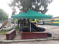 Зонт 4х4 торговий садовий пляжний барний тент від сонця 4х4 вуличний тросовий квадратний
