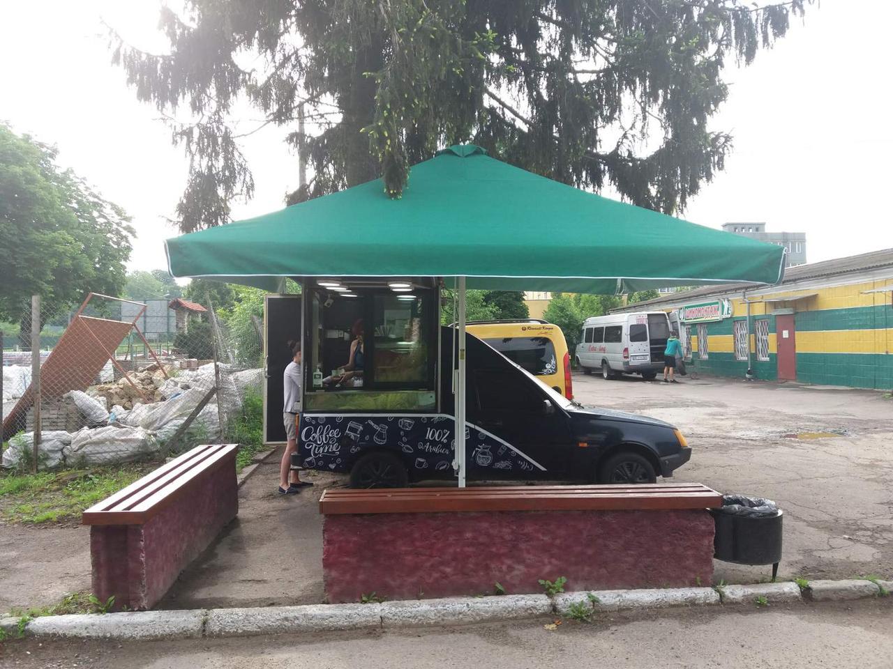 Зонт 4х4 торговый садовий пляжный барный тент  зонт 4х4 уличный тросовый квадратный