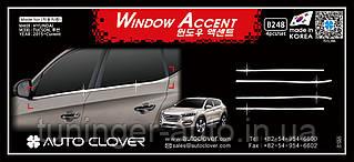 Хром молдинг стекла Hyundai Tucson 2015- (Autoclover/Корея/B248)