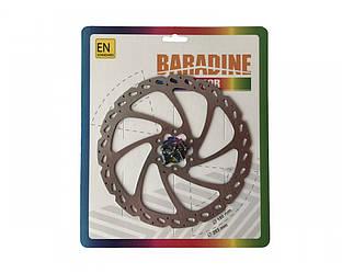 Ротор / гальмівний диск Baradine DB-01 під 6-ть болтів, 180мм. срібло