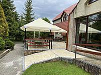 Зонт 4х4 торговий садовий пляжний барний тент від сонця 4х4 вуличний тросовий квадратний, фото 4