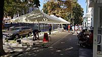 Зонт 4х4 торговий садовий пляжний барний тент від сонця 4х4 вуличний тросовий квадратний, фото 7