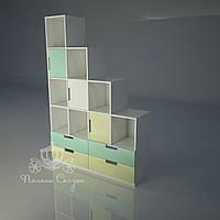 "Стеллаж - перегородка с ящиками ""Грузовичок"", фото 1"