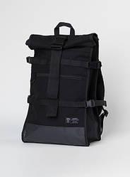 Черный рюкзак роллтоп Akuma