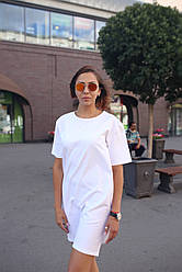 Женское белое платье-футболка Sarina