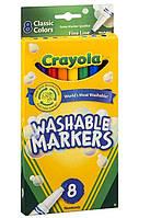 Фломастеры Crayola 8шт. Ultra-Clean Washable
