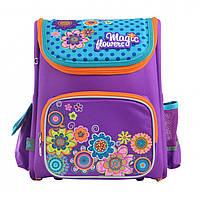 """Ортопедический рюкзак для девочки школьный YES """"Flowers"""": 1-4 класс, 13 л, 35 см"""