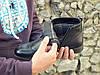 Демисезонные ботинки броги мужские черные кожаные размер 40, 41, 42, 43, 44, 45, фото 4